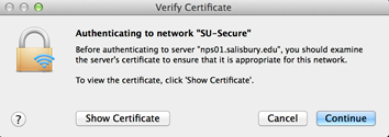 authenticate to network