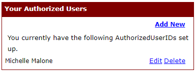 Your authorized users